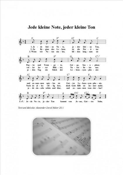 Jede kleine Note, jeder kleine Ton