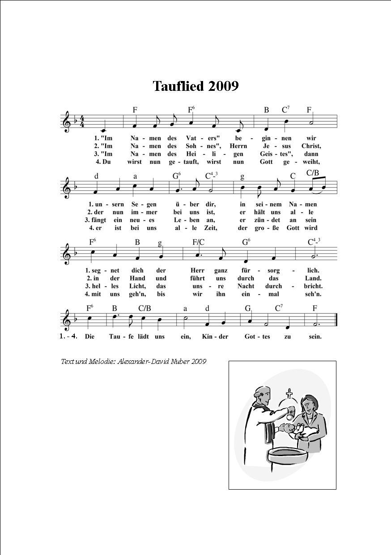 Tauflied 2009 Herzlich Willkommen Auf Wwwliederkistenet